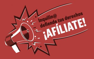 """Comenzamos nuestra campaña de afiliación: """"Inquilin@s, defiende tus derechos"""""""