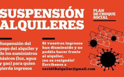 Exigimos la suspensión de los alquileres mientras dure la crisis de la COVID-19